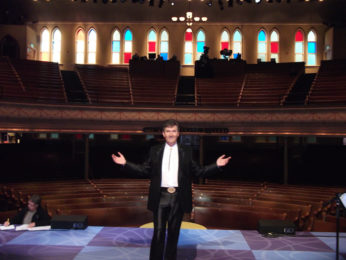 Daniel on stage at the Ryman in Nashville