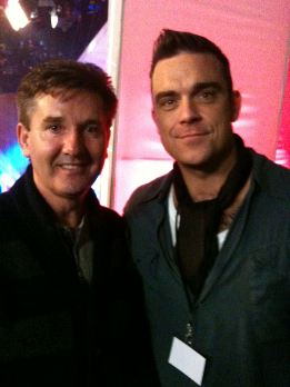 Daniel with Robbie Williams (Singer)